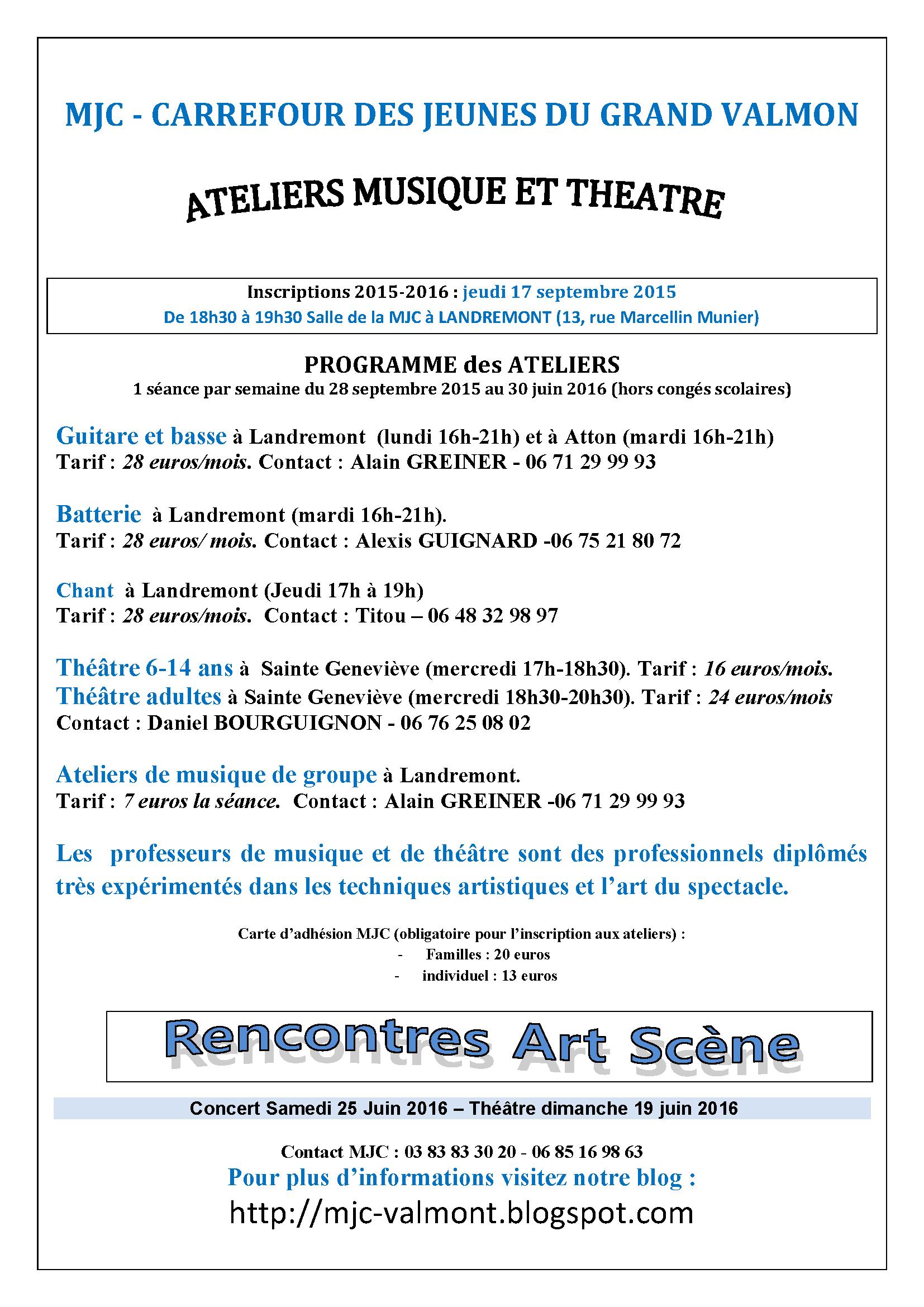 Plaquette Ateliers2015-2016